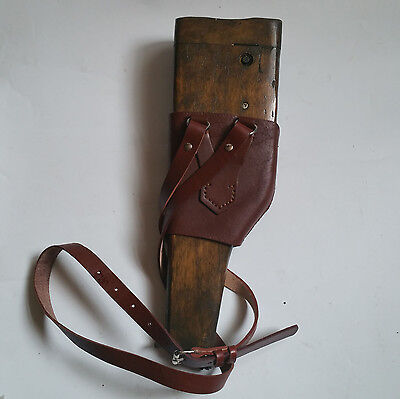 Reproduction WWII WW2 German Wood Holster Case Stock Mauser C96 Broomhandle