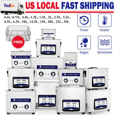 Ultrasonic Cleaner Heated 2L 3L 6L 10L 15L 30L Solution Parts Lab Clinic Jewelry