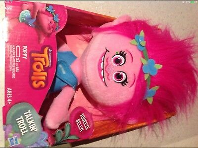 Talking Troll Poppy Plush - NEW