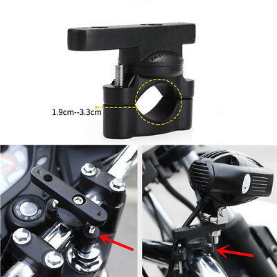 CNC Motorcycle Handlebar Extension Bracket Post Mount for LED Light Phone Holder