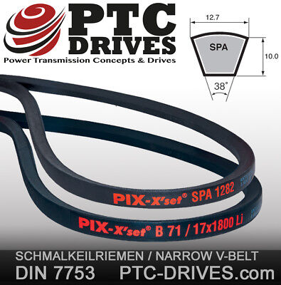 D/&D PowerDrive SPB1800 V Belt  17 x 1800mm  Vbelt