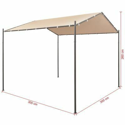 Oxford Gazebo Pavilion Tent Canopy Steel Beige Outdoor Party Marquee 13 X