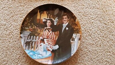 Gone With The Wind Collectors Plate ~ Strolling in Atlanta with Paperwork