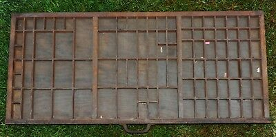 Vintage Wooden Typecase Tray Draw Letterpress printer # adana  8x5 user