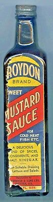 1912 Has Contents Croydon Mustard Sauce Brooker & Sons Croydon Screw Top Sa