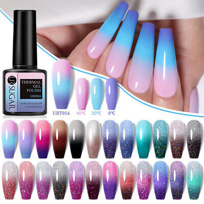LEMOOC 8ml Nail UV Gel Polish Thermal Color Changing Soak off UV/LED Gel Nail