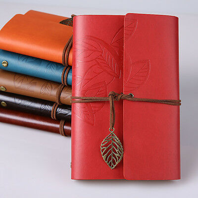 """Vintage Leaf"" 1pc Faux Leather Journal Diary Kraft Papers Traveler's Notebook"