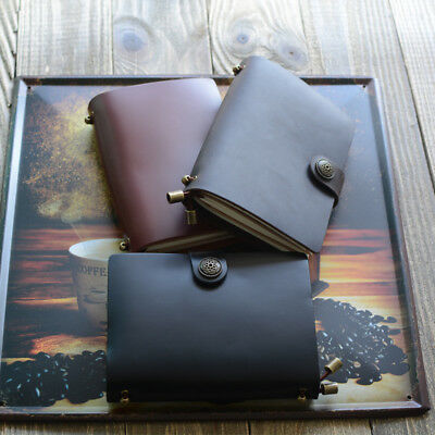 """Endless Magic S"" 1pc Travel Journal Genuine Cow Leather Diary Business Notebook"