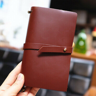 """Endless Story M"" 1pc Medium Real Leather Travel Journal Business Notebook Diary"