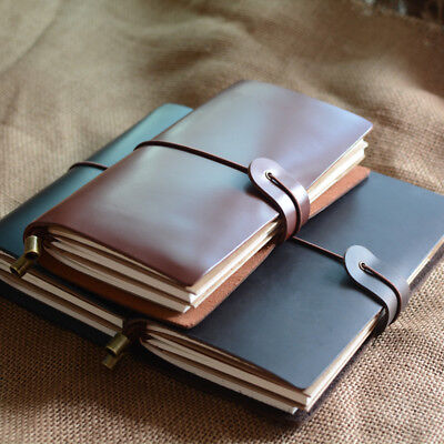 """Endless Flame M"" 1pc Medium Real Leather Business Journal Notebook Diary Gift"