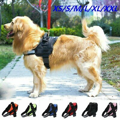 Dog Puppy Harness Adjustable 3M Reflective Padded Ultra Comfort 7 Colours XS-XXL