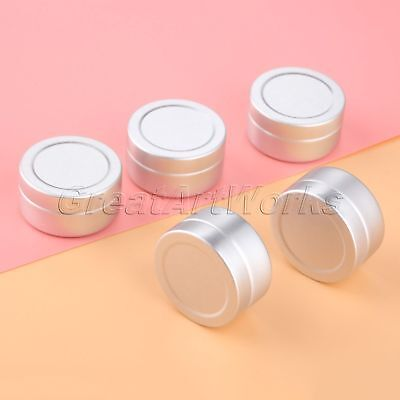 5pcs Empty Aluminum Pot Jars Cosmetic Containers Bottle No Thread Cover Case 10g