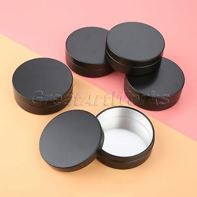 100g Jar Cosmetics Cream Pot Tin Cans Empty Container Press Cap Aluminum Black