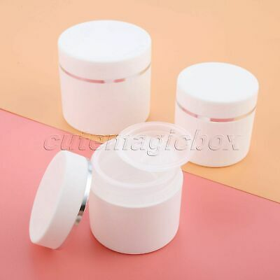Empty White PP Skin Care Cream Jar Pot 30g/50g/100g Lip Balm Cosmetic Container