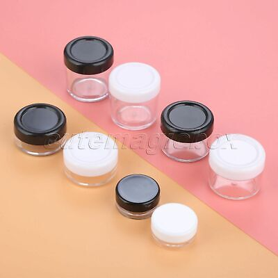 5pc Travel Essential Supplies 3g 10g 15g 20g Face Cream Jar Container Sample Pot