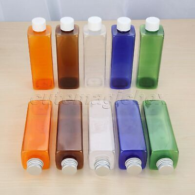 Cosmetic Travel Shower Lotion Bottles 5 Colour Empty 250ml Container 2 Type Cap