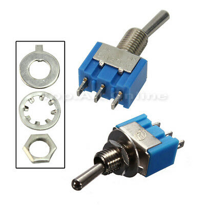 10 Pcs Blue SPDT MTS-102 3 Pin 2 Position On-on 6A 125VAC Toggle Switches Hot