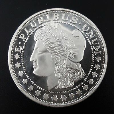 US Morgan Dollar Design 1 oz 999 Silver coin straight from the mint tube #385
