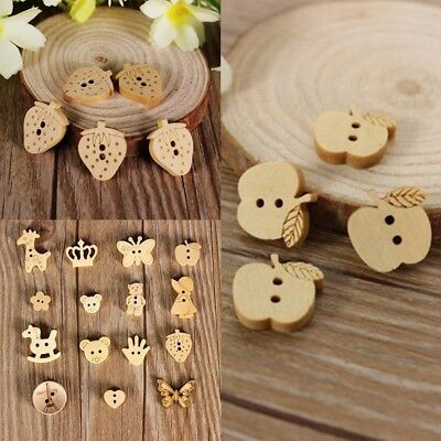 10/50/1000pcs Wood Buttons Natural Wooden Button Sewing and Scrapbooking HIGH
