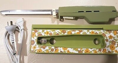 Retro  Electric Knife carving Ronson made in Australia wall mountable