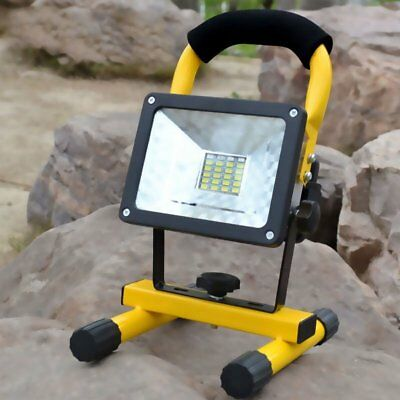 30W COB LED Rechargeable Cordless Thin Portable Work Site Flood Light Camping EB