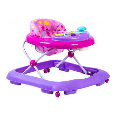 Baby Walker pink Activity First Steps Music Melody Toy Car 3 Heights Bright Car/