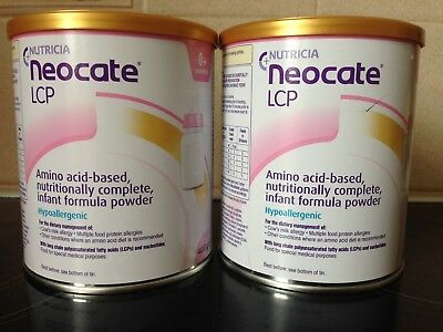 Nutricia Neocate LCP 0-12 Infant 400g- Brand New & Sealed2 tins