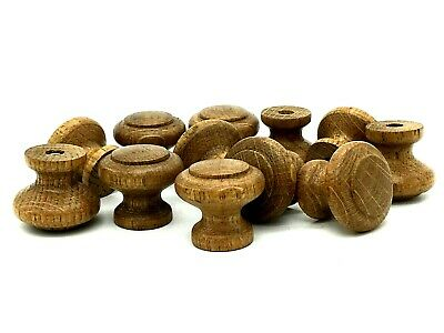 10 x ANTIQUE OAK KNOBS 30mm wooden cupboard dresser cabinet drawer knob (194)