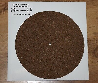 Turntable Platter Mat High Audiophile Quality upgrade Cork With Rubber Matrix