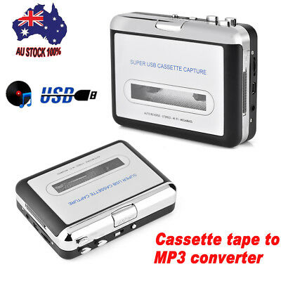 New Tape to PC USB Cassette-to-MP3 Converter Capture Audio Portable Music Player