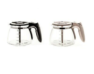 Beige Or Black Swirl Glass Jar Jug For Philips Daily Collection Coffee Maker