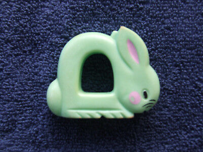 Vintage 1977 Avon The First Years Baby Rattle Plastic Bunny Rabbit
