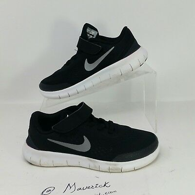 5d540adee5680 Nike Free RN PSV Youth Athletic Running Sneaker Shoes Black SIZE 2Y