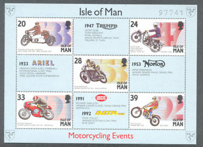 Isle of Man TT-Motorcycling Events min sheet 1993(97741)