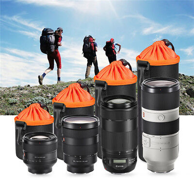 1PC Neoprene Waterproof Soft Video Camera Lens Pouch Bag Case With Rope 4 Size