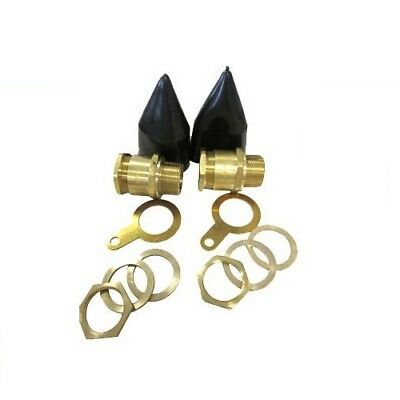 Pk 2 - Brass Cy And Sy Cable Glands Braided Xt25 Termination Gland Pack