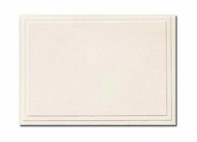 Triple Embossed Ivory Note Cards and Envelopes - 50/Pack