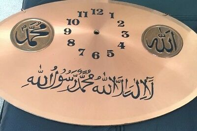 beautiful copper wall clock with hanging chain for sale