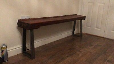 Rustic bench seat 'Burroughes & Watts' Snooker Table.