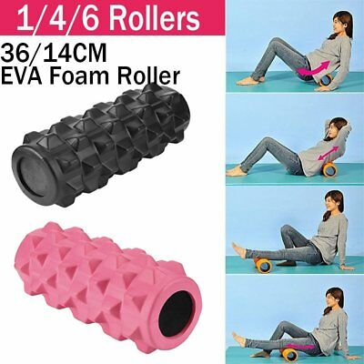 Foam Roller Grid EVA 33x14cm Physio Pilates Yoga Gym Exercise Trigger Point BU