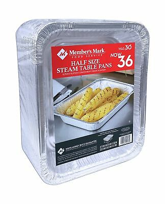 Daily Chef Aluminum Foil Steam Table Pans, Half Size (36ct.)