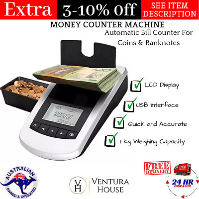 Portable Money Counter Machine Automatic Counting Banknote With Mini Coins Scale