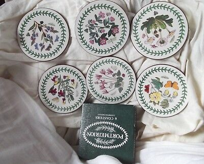 Set Of 6 Portmeirion Coasters In Box
