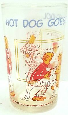 Hot Dog Goes To School Glass Cup 1971 Archie Comics
