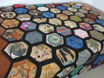 Handmade Egyptian PATCHWORK QUILT THROW or WALL HANGING Couch Rug