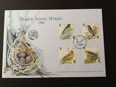 Isle Of Man 2000 First Day Cover Manx Songbirds