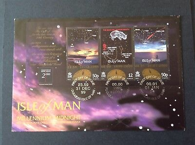 Isle Of Man 2000 First Day Cover Millenium Midnight Ms