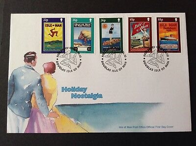 Isle Of Man 2000 First Day Cover Holiday Nostalgia