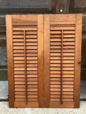 Lot of 3 Vintage Salvage Shabby Wood Shutters
