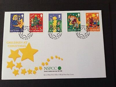 Isle Of Man 2000 First Day Cover Childreen At Christmas